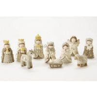 Heaven Sends - Small White Nativity Set